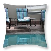 Pool Time Throw Pillow by Lauri Novak