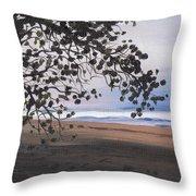 Pools Beach Throw Pillow by Sarah Lynch