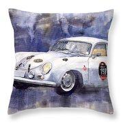 Porsche 356 Coupe Throw Pillow by Yuriy  Shevchuk