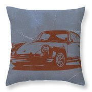 Porsche 911 Throw Pillow by Naxart Studio