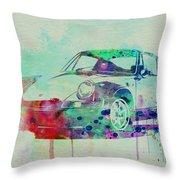 Porsche 911 Watercolor 2 Throw Pillow by Naxart Studio