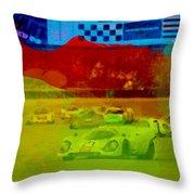 Porsche 917 Racing Throw Pillow by Naxart Studio