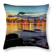 Portland Maine Throw Pillow by Benjamin Williamson