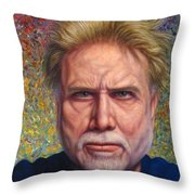 Portrait Of A Serious Artist Throw Pillow by James W Johnson
