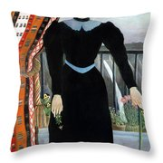 Portrait Of A Woman Throw Pillow by Henri Rousseau