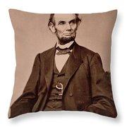 Portrait Of Abraham Lincoln Throw Pillow by Mathew Brady