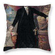 Portrait of George Washington Throw Pillow by Joes Perovani