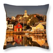 Portsmouth Reflections Throw Pillow by Susan Cole Kelly