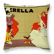 Poster For Cinderella Throw Pillow by Tom Browne