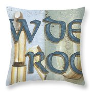 Powder Room Throw Pillow by Debbie DeWitt