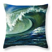 Power Throw Pillow by Billie Colson