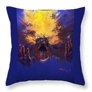 Power from on High Throw Pillow by Tommy  Winn