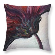 Power Of Purple Throw Pillow by Nadine Rippelmeyer