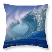 Powerful Surf Throw Pillow by Ron Dahlquist - Printscapes