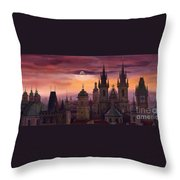 Prague City Of Hundres Spiers Throw Pillow by Yuriy  Shevchuk