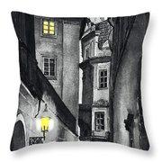 Prague Love Story Throw Pillow by Yuriy  Shevchuk