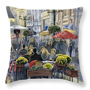 Prague Mustek First Heat Throw Pillow by Yuriy  Shevchuk