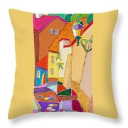 Prague Old Street Ceminska Novy Svet Throw Pillow by Yuriy  Shevchuk