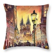 Prague Old Town Squere Throw Pillow by Yuriy  Shevchuk