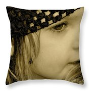 Precious Throw Pillow by Gwyn Newcombe