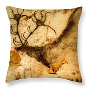 Prehistoric Artists Painted A Red Deer Throw Pillow by Sisse Brimberg