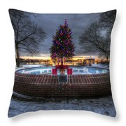 Prescott Park Christmas Tree Throw Pillow by Eric Gendron