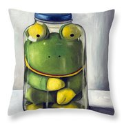 Preserving Childhood Upclose Throw Pillow by Leah Saulnier The Painting Maniac