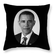 President Barack Obama Throw Pillow by War Is Hell Store