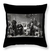 President Lincoln And His Cabinet Throw Pillow by War Is Hell Store