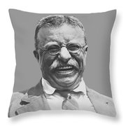 President Teddy Roosevelt Throw Pillow by War Is Hell Store