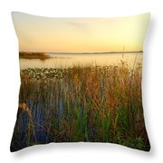 Pretty Evening At The Lake Throw Pillow by Susanne Van Hulst