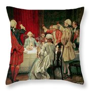 Prince Charles Edward Stuart In Edinburgh Throw Pillow by William Brassey Hole