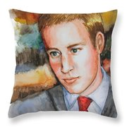 Prince William Throw Pillow by Patricia Allingham Carlson