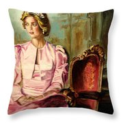 Princess Diana The Peoples Princess Throw Pillow by Carole Spandau