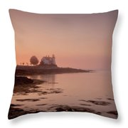 Prospect Harbor Dawn Throw Pillow by Susan Cole Kelly