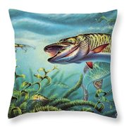 Provoked Musky Throw Pillow by Jon Q Wright