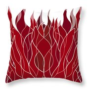 Psychedelic flames Throw Pillow by Frank Tschakert