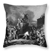 Pulling Down The Statue Of George IIi Throw Pillow by War Is Hell Store