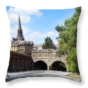 Pulteney Bridge And Weir Throw Pillow by Jane Rix
