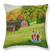 Puppy Love Throw Pillow by Charlotte Blanchard
