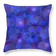 Purple And Blue Abstract Throw Pillow by Frank Tschakert