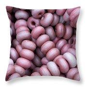 Purple Fish Net Floats Throw Pillow by Frank Tschakert