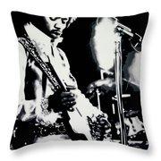 Purple Haze Throw Pillow by Luis Ludzska