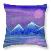 Purple Night 3 Throw Pillow by Hakon Soreide