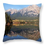 Pyramid Mountain And Pyramid Lake 2 Throw Pillow by Larry Ricker