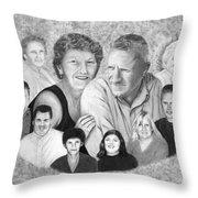 Quade Family Portrait  Throw Pillow by Peter Piatt