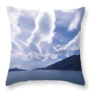 Queen Charlotte Sound Throw Pillow by Kevin Smith