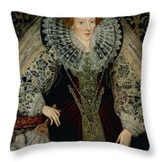 Queen Elizabeth I Throw Pillow by John the Younger Bettes