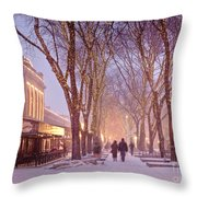Quincy Market Stroll Throw Pillow by Susan Cole Kelly
