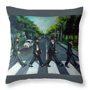 Rabbi Road Throw Pillow by Valerie Vescovi